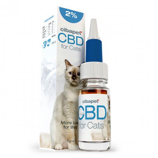 CBD eļļa kaķiem 2%