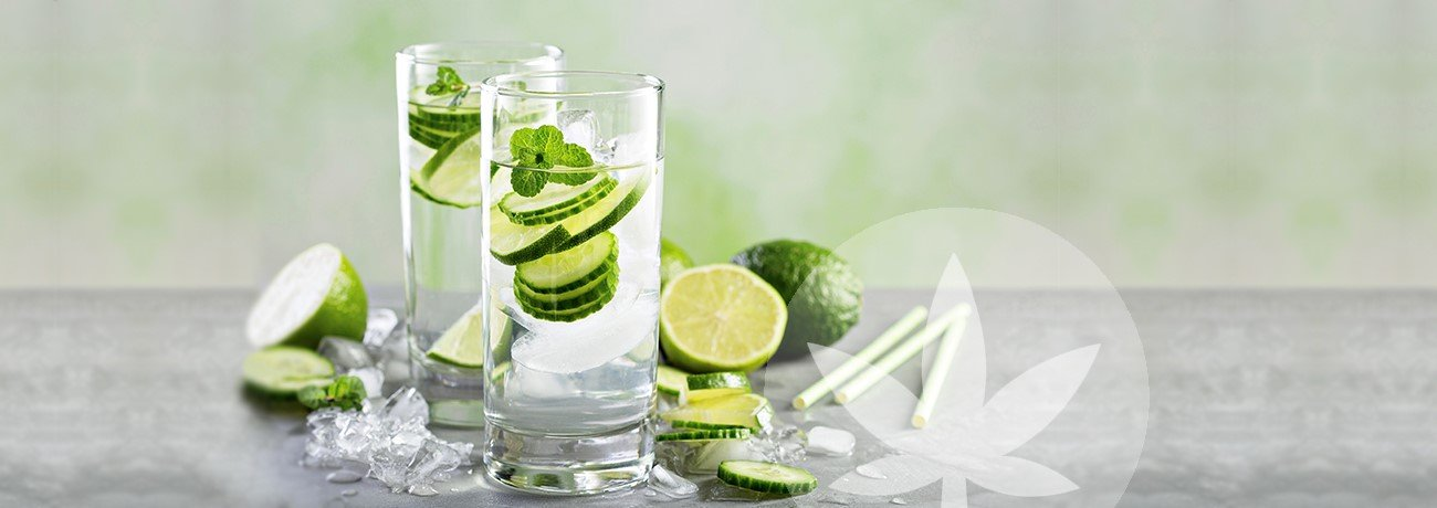 lime water in glass