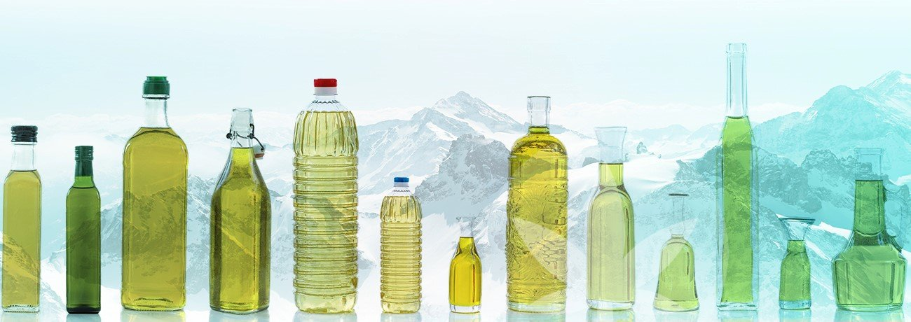 oil in different bottles