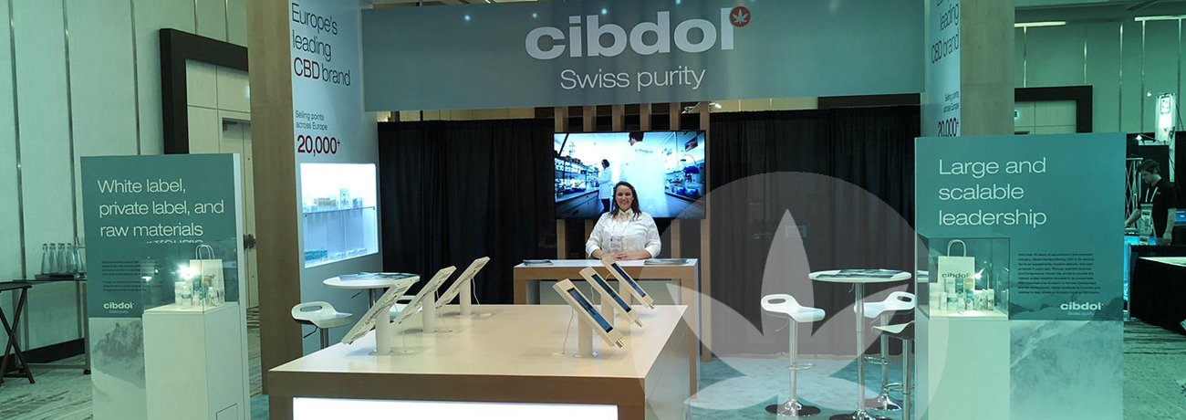 Cibdol exhibit at the O'Cannabiz Conference & Expo
